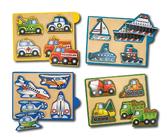 Машинки набор из 4 пазлов ehicles. Melissa & Doug