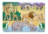 Пазл Угадай африканское животное Safari Peg Puzzle. Melissa & Doug