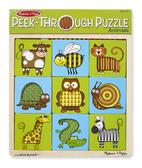 Пазл-трафарет Животные Peek-Through Puzzle Animals. Melissa & Doug