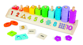 Сортер Цвет, форма, счет Counting Shape Stacker, Melissa & Doug