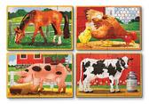 Животные на ферме - набор из 4 пазлов Farm Animals, Melissa & Doug