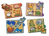 Животные - набор из 4 пазлов Animals, Melissa & Doug