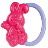 Погремушка Зайчик (красный с фиолетовой ручкой), Canpol babies, сиреневая ручка от Canpol babies
