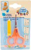 Ножницы безопасные c колпачком, оранжевые  ручки, Canpol babies, оранжев. ручка от Canpol babies