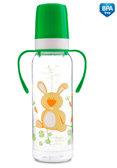 Тритановая бутылочка с ручками 250 мл (салатовый зайчик), Canpol babies, салат. от Canpol babies