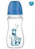 Антиколиковая бутылочка EasyStart Цветные зверюшки (синяя крышка), 300 мл, Canpol babies, синий от Canpol babies