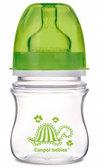 Бутылочка с широким горлышком Easy Start Цветные зверюшки, салатовая черпаха, 120 мл, Canpol babies, салат. черепаха от Canpol babies