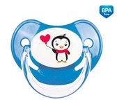 Пустышка латексная анатомическая, 0-6 м, Пингвин, синяя, Canpol babies, синий от Canpol babies