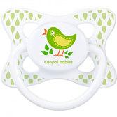 Пустышка Каникулы, силиконовая симметричная, с птичкой, 0-6 мес, Canpol babies, птичка от Canpol babies