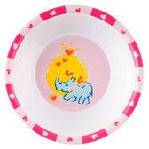 Глубокая тарелка из меламина Зоопарк с носорогом, Canpol babies, носорог от Canpol babies