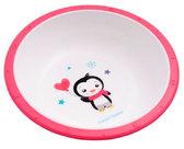 Тарелка-миска пластиковая с нескользящим дном Пингвин, с розовым ободком, Canpol babies, пингвин розов. ободок от Canpol babies