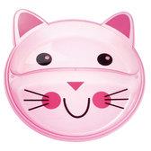 Тарелка с двумя отделениями Зверюшки, розовый котик, Canpol babies, котик от Canpol babies