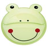 Тарелка с двумя отделениями Зверюшки, зеленая лягушка, Canpol babies, лягушка от Canpol babies