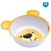 Глубокая тарелка из меламина с ушками с антискользящим дном, бело-желтая, Canpol babies, желтая от Canpol babies