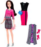 Набор Barbie Модница с одеждой, брюнетка 2, Barbie, Mattel, брюнетка 36 от Barbie (Барби)