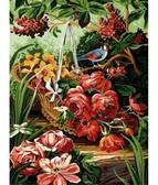 Корзинка с розами 30 x 40 см