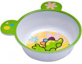 Глубокая тарелка из меламина с ушками с антискользящим дном, бело-зеленая, Canpol babies, зеленая от Canpol babies