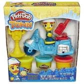 Полицейский мотоцикл - набор с пластилином Play-Doh Town, Play-Doh, синий мотоцикл