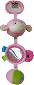 Погремушка с зеркальцем и колокольчиком (розовая), 23 см, Devik play joy, розов. от DEVIK play joy