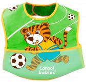 Слюнявчик Тигр с карманом, Canpol babies, зелен. футбол от Canpol babies