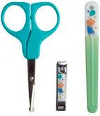 Маникюрный набор для малыша зеленый - ножницы, щипчики, пилочка, Nuby, зелен. от NUBY (Нуби)