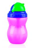 Поильник с трубочкой-непроливайкой Flip-It, 300 ml., Nuby, роз. бут. фиол. кр.