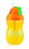 Поильник с трубочкой-непроливайкой Flip-It, 300 ml., Nuby, желт. бут. оранж. кр.