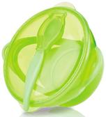 Тарелка с крышкой и ложкой на присоске, зеленая, Nuby, зелен. от NUBY (Нуби)