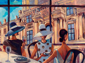 Перерыв на кофе, серия Городской пейзаж, рисование по номерам, 40 х 50 см, Идейка, Перерыв на кофе