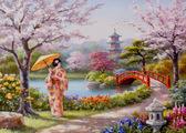 Нарисованный рай, серия Пейзаж, рисование по номерам, 40 ? 50 см, Идейка, Нарисованный рай