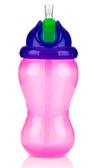 Поильник с силиконовой трубочкой-непроливайкой, розово-фиолетовый, 355 мл., Nuby, роз. фиол.