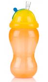 Поильник с силиконовой трубочкой-непроливайкой, оранжево-желтый, 355 мл., Nuby, оранж. желт.