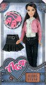 Джинсовый стиль, набор с куклой 28 см, шатенка, Ася от Ася