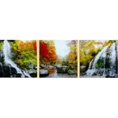 Триптих. Водопад, 50 х 150 см