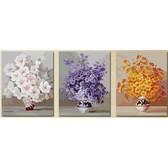 Триптих. Нежные цветы, 50 х 150 см