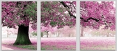 Триптих. Весенний цвет, 50 х 150 см