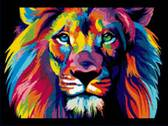 Радужный лев, 30 х 40 см