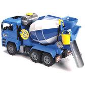 игрушка - бетоновоз MAN TGA синий, М1:16