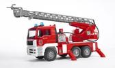 игрушка - пожарный грузовик с лестницей (+водяная помпа+свет и звук), М1:16