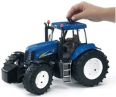 игрушка - трактор New Holland T8040 синий, М1:16