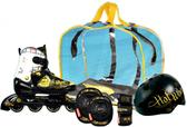 Ролики HOTWHEELS Cruiser, размер 30-33,в наборе с шлемом и защитой