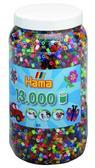 Набор цветных бусин, 13.000шт, 50 цветов, MIDI 5+