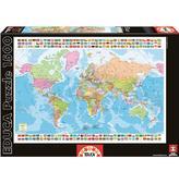 Пазл Политическая карта Мира, 1500 элементов