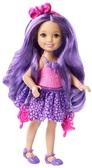 Челси, серия Endless Hair, мини-кукла с фиолетовыми волосами, Barbie, Mattel, фиолетовые волосы