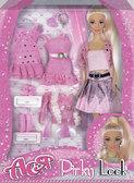 Розовый стиль, набор с куклой 28 см., Ася от Ася