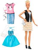 Набор Barbie Модница с одеждой, блондинка 44, Barbie, Mattel, 46 от Barbie (Барби)