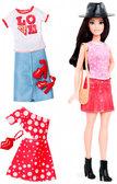 Набор Barbie Модница с одеждой, брюнетка 40, Barbie, Mattel, 40 от Barbie (Барби)