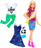 Набор Barbie Модница с одеждой, блондинка 35, Barbie, Mattel, 35 от Barbie (Барби)