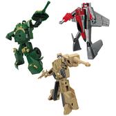 Игровой набор - РОБОТ-ТРАНСФОРМЕР (15 см), ТАНК (зеленый), САМОЛЕТ, ТАНК (бежевый) от X-bot