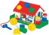 Каталка-сортер Игровой дом, красный, Полесье, красный от Полесье